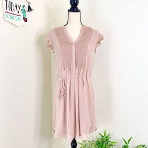 H & M Chiffon pleated dress